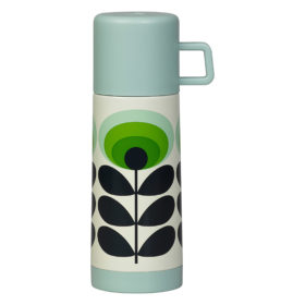 Flask 70s Oval Flower, Green
