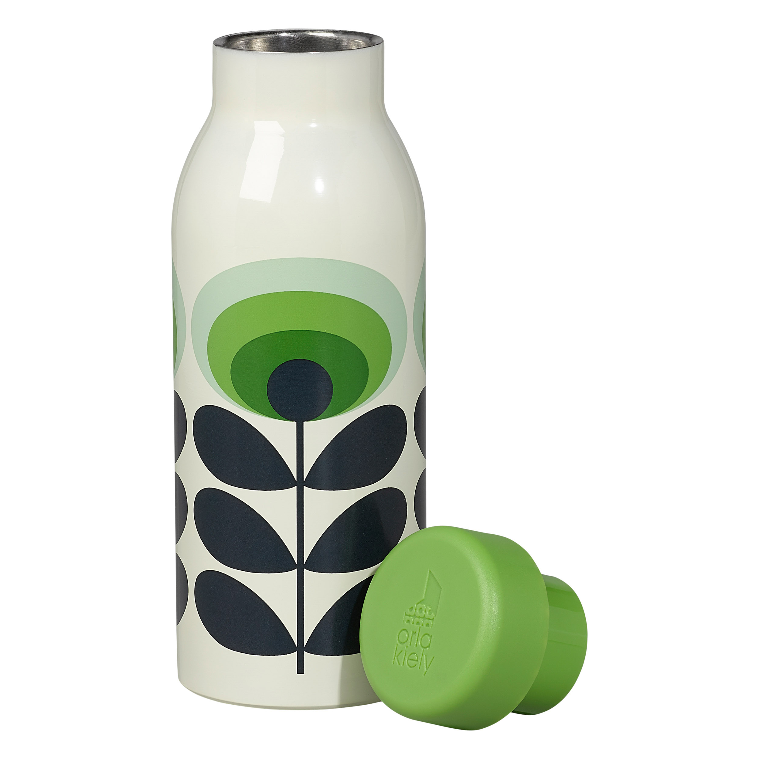 Insulated Bottle, 70s Oval Flower, Green