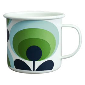 Enamel Mug 70s Flower Oval Apple 500ml