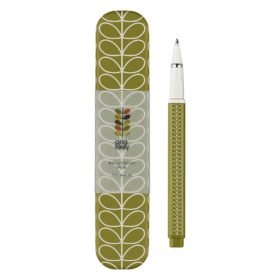 Metal Ballpoint Pen, Linear Stem, Seagrass
