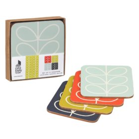 Coasters Set 4 Linear Stem