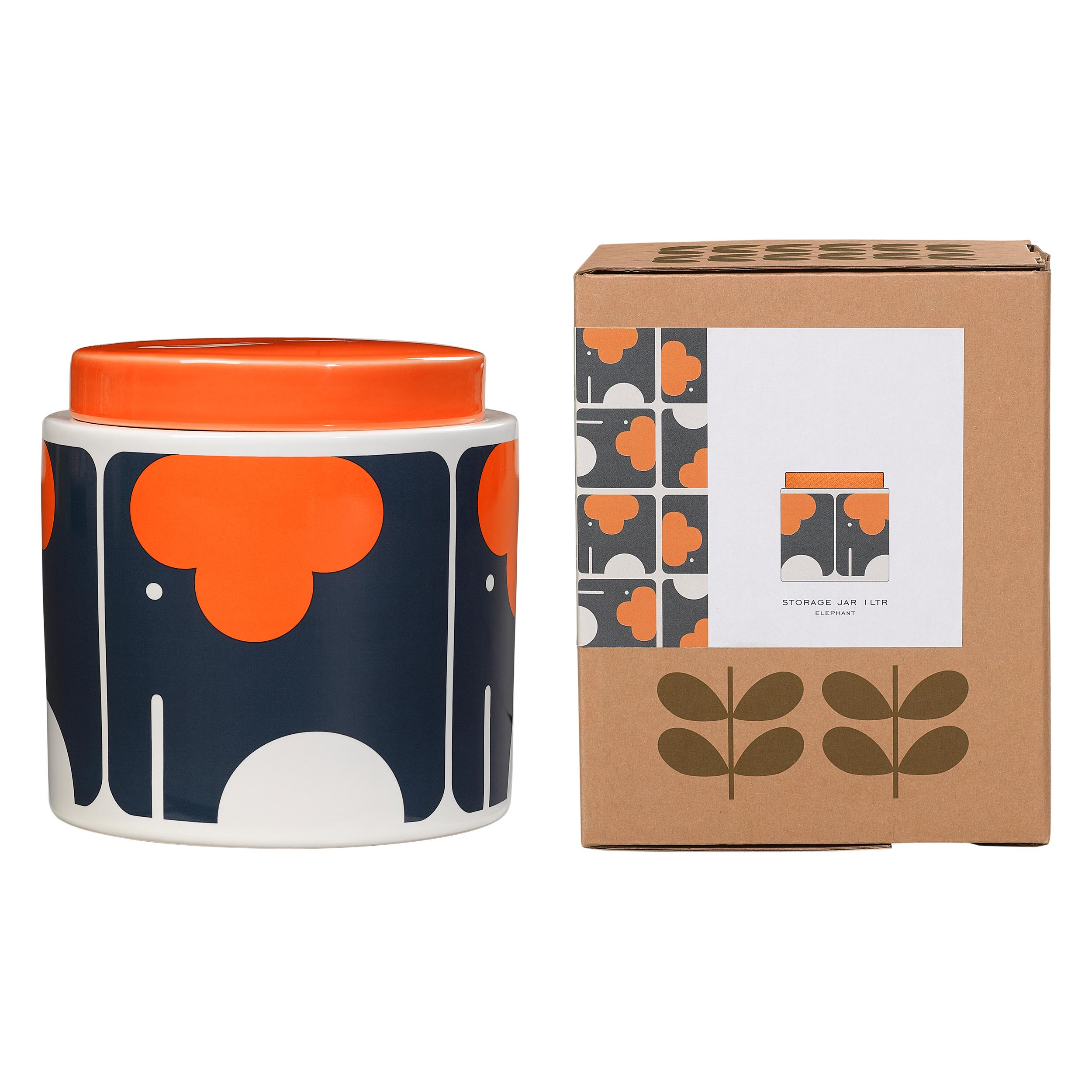 1L Storage Jar Elephant