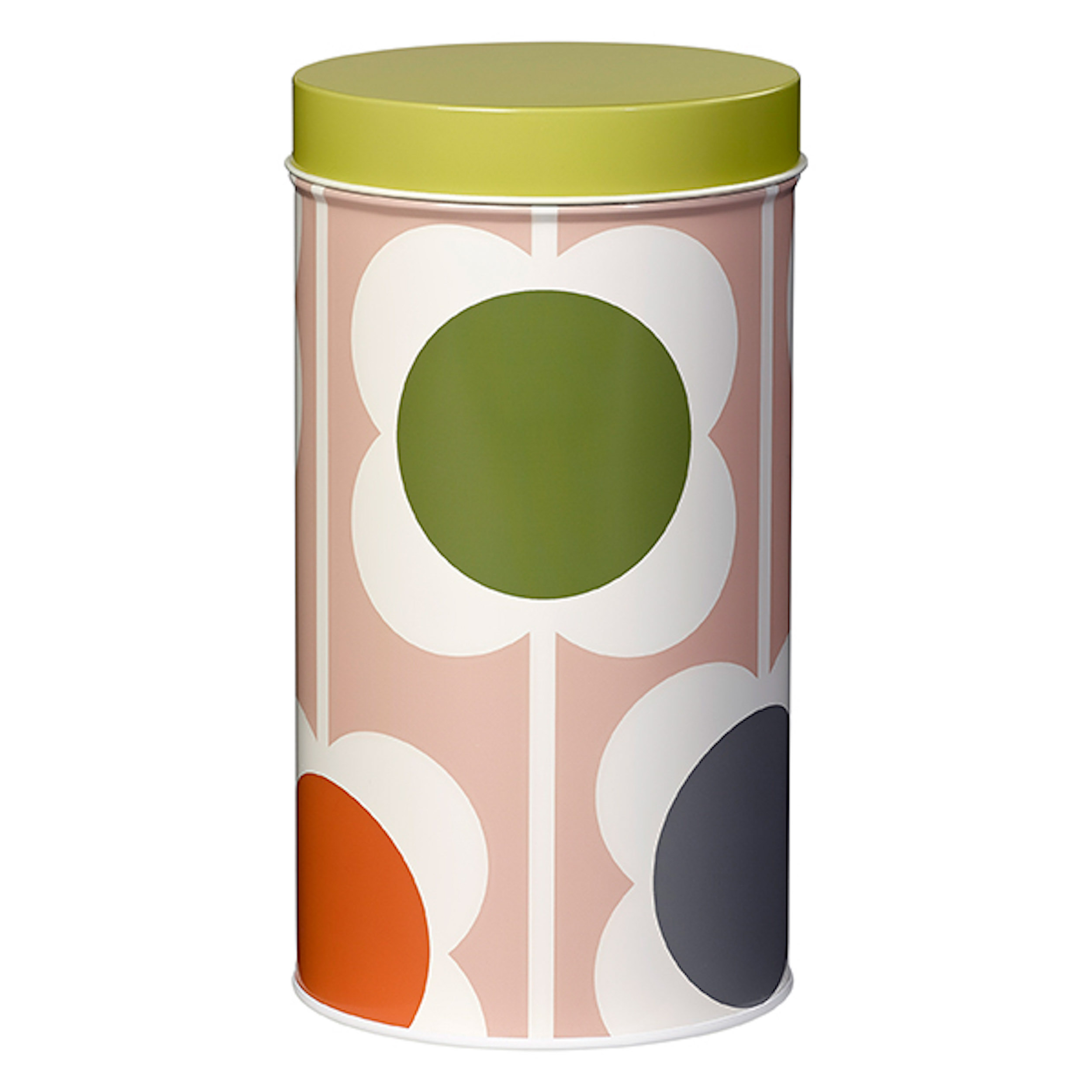 Single Tin Canister, Abacus Flower