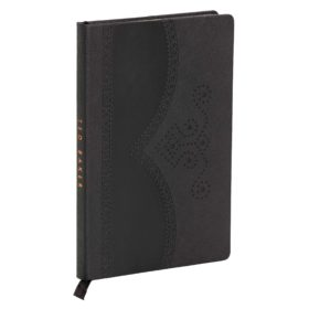 A5 Brogue Notebook, Black