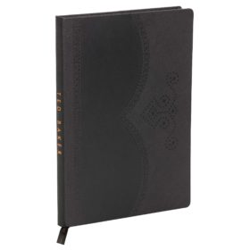 Large Notebook, Black Brogue