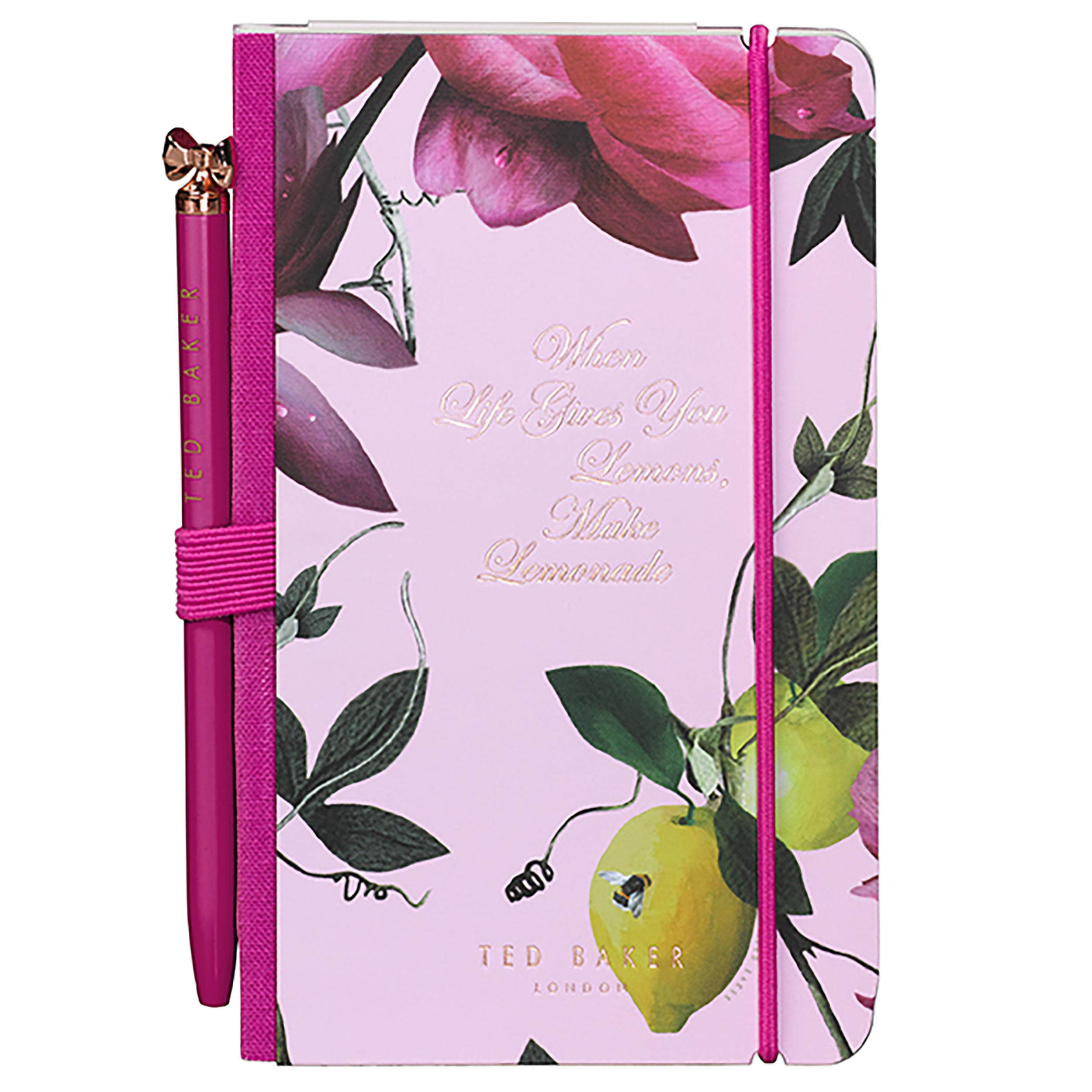Mini Notebook & Pen, Citrus Bloom Nude