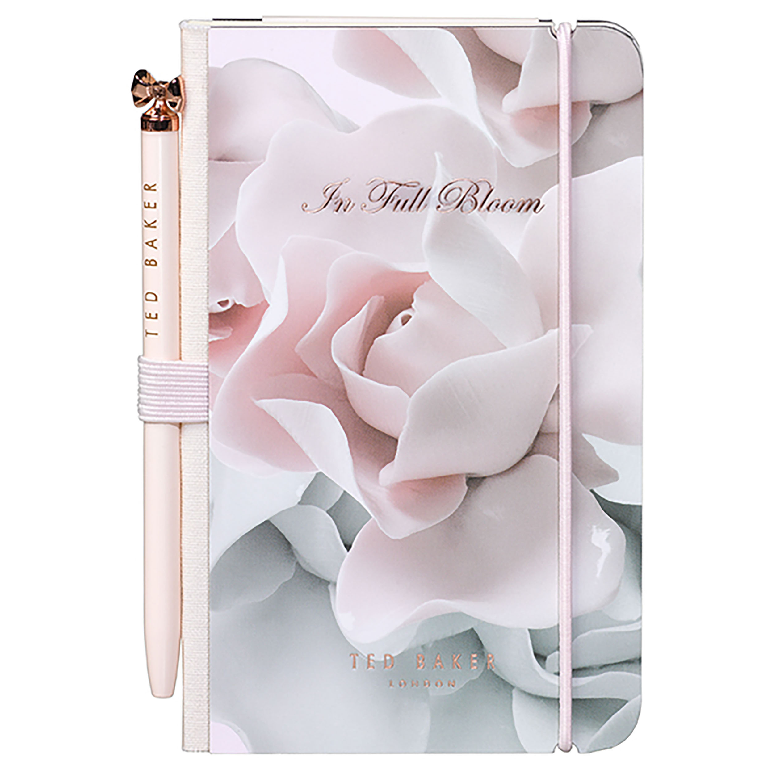 Mini Notebook & Pen, Porcelain Rose