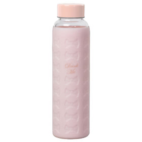 Signature Bow Water Bottle, Nude