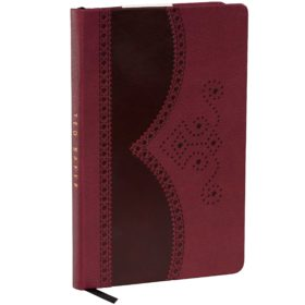 A5 Brogue Notebook, Oxblood
