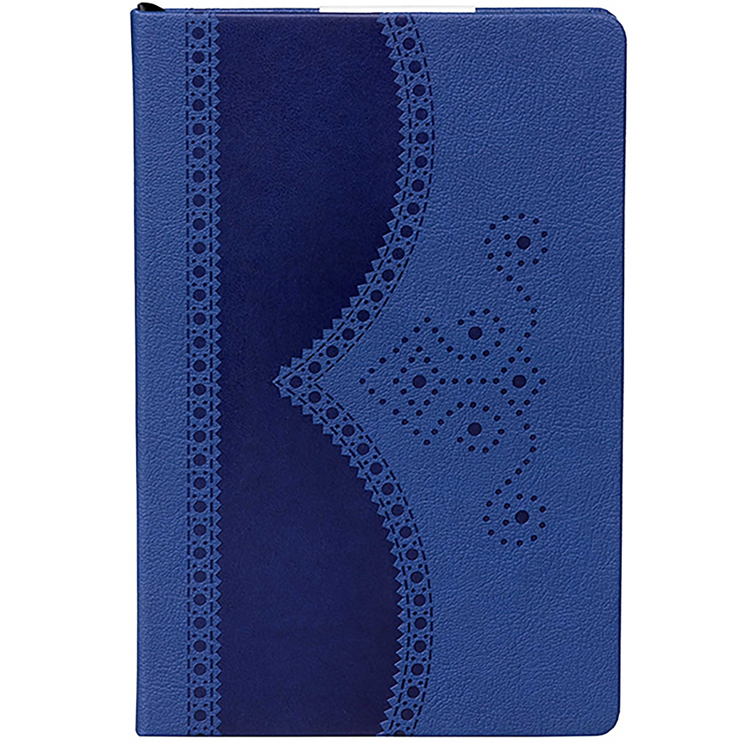 A5 Brogue Notebook, Textured Blue