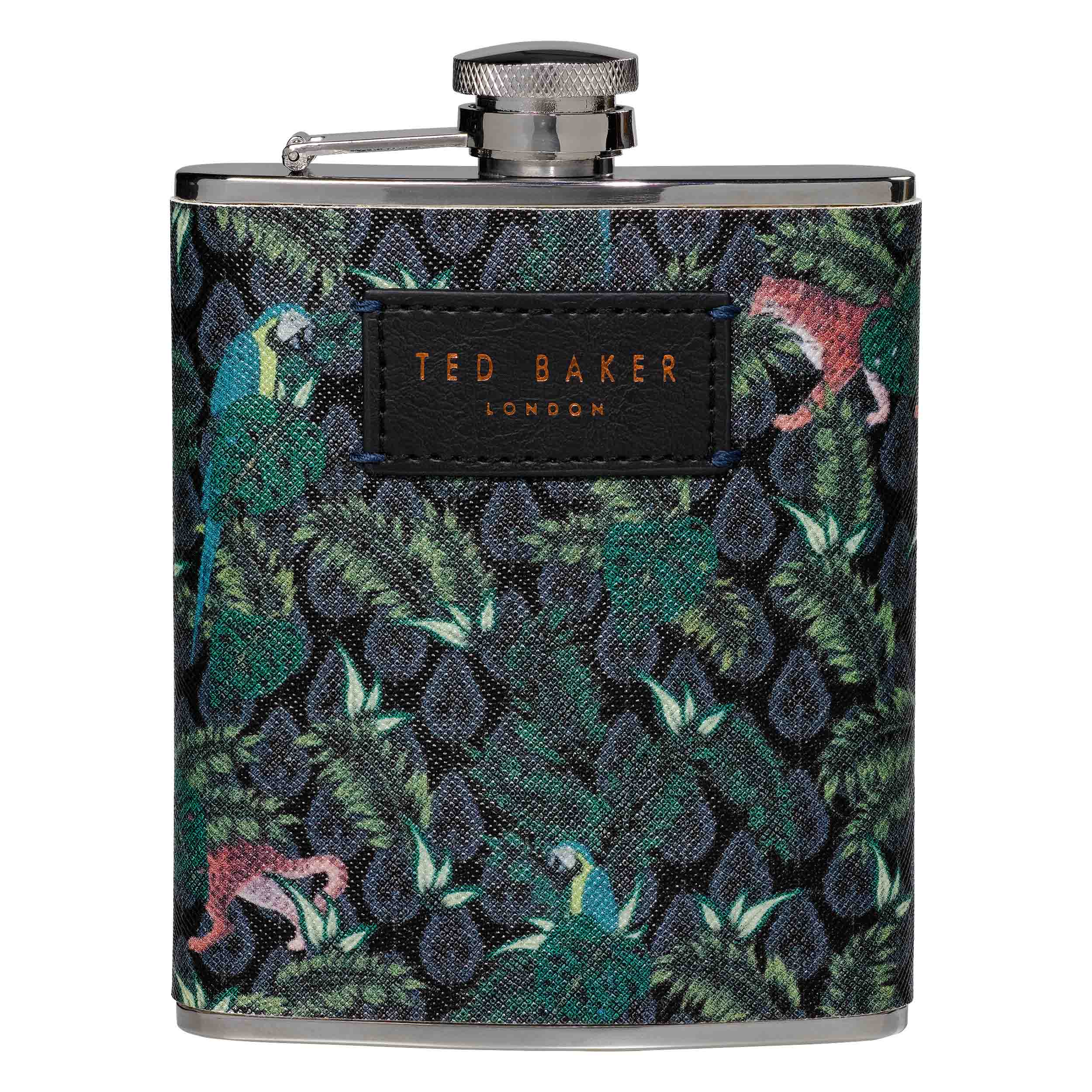 Hip Flask, Jungle Print