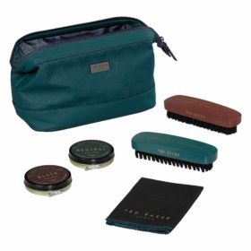 Shoe Shine Kit, Teal