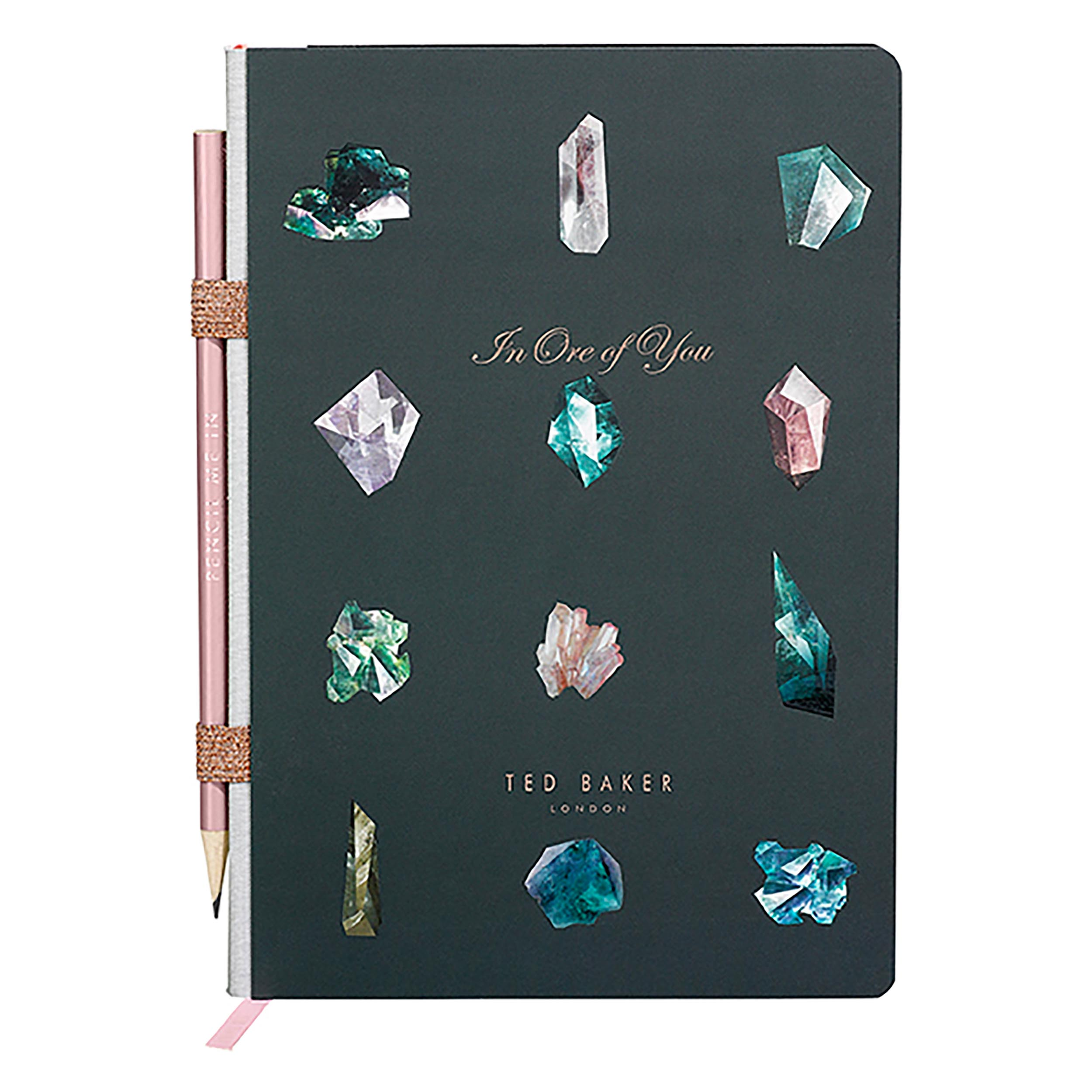 A5 Notebook with Pencil, Linear Gem