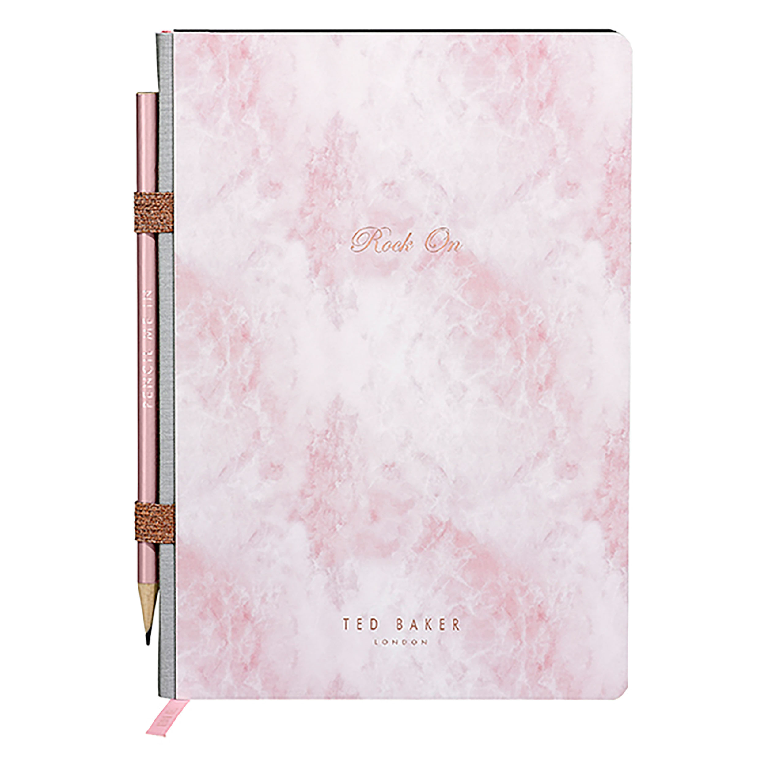 A5 Notebook with Pencil, Rose Quartz