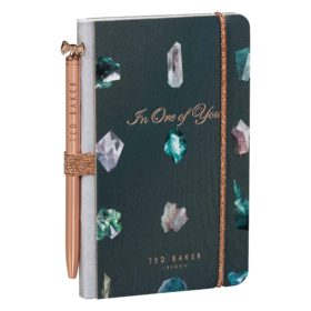 Mini Notebook & Pen, Linear Gem