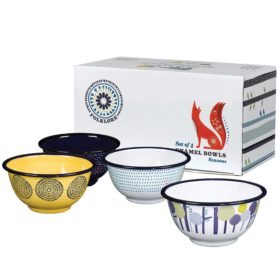 Enamel Bowls, Set of 4