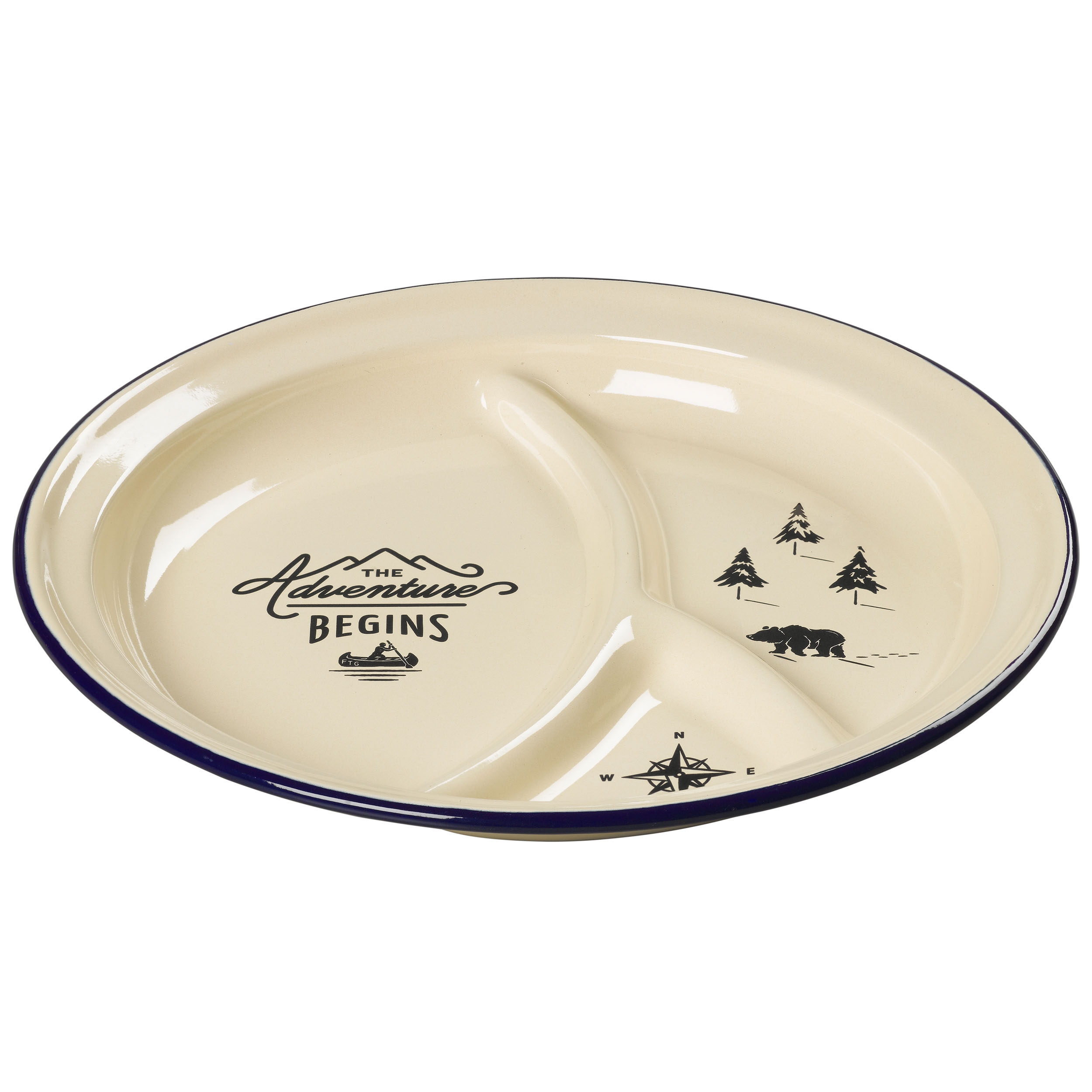 Enamel Divided Plate