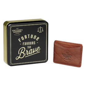 Leather Card Wallet, Tan